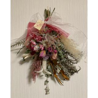 ドライフラワー  スワッグ   pink rose(ドライフラワー)
