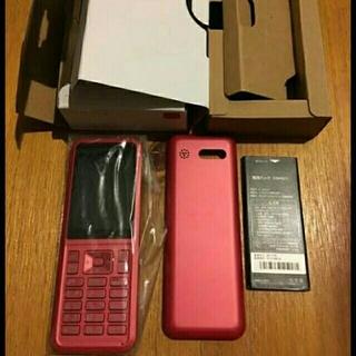 ソフトバンク(Softbank)のsimply 603SI RED SEIKO 新品未開封 softbank (携帯電話本体)