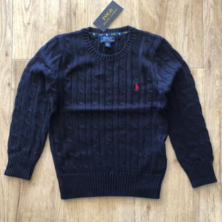 Ralph Lauren - ケーブルニット セーター ネイビー 120