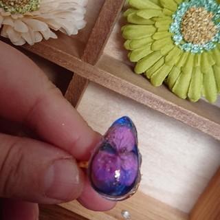紫陽花の指輪(プリザーブドフラワー)