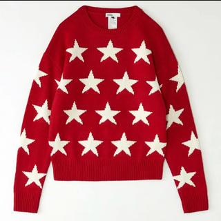 ダブルスタンダードクロージング(DOUBLE STANDARD CLOTHING)のダブルスタンダード 星柄 ニットプルオーバー 美品!(ニット/セーター)