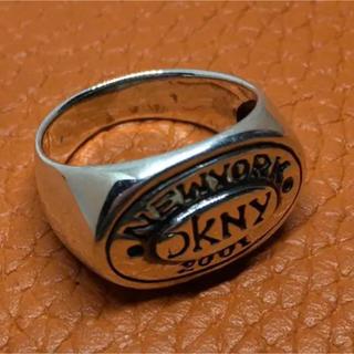 オーバル シルバー925 リング  15号 ギフト ユニセックス 銀 指輪(リング(指輪))