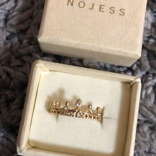 ノジェス(NOJESS)のノジェス クラウンリング 王冠 ピンキーリング アガット(リング(指輪))