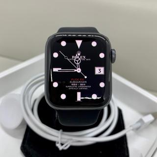 アップルウォッチ(Apple Watch)の【良品】Apple Watch Series 4 GPS 40mm 希少グレイ(腕時計(デジタル))