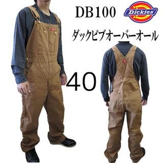ディッキーズ(Dickies)の新品 40 RBD ダックオーバーオール ディッキーズ ブラウン(サロペット/オーバーオール)