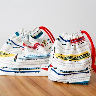 新幹線のお弁当袋セット、上靴袋(バッグ/レッスンバッグ)