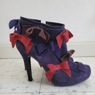 ツルバイマリコオイカワ(TSURU by Mariko Oikawa)のツルバイマリコオイカワリボンショートブーツ37(ブーツ)
