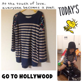 ゴートゥーハリウッド(GO TO HOLLYWOOD)の花柄刺繍ボーダー♡(Tシャツ/カットソー)