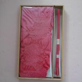 帯揚げ 帯締めセット ピンクおしゃれくみひも(和装小物)