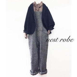 nest Robe - nest robe ネストローブ リネンウールオーバーオール サロペット