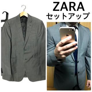 ZARA - ZARA セットアップ スーツ グレー×ストライプ ザラ