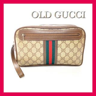 Gucci - グッチ セカンドバッグ クラッチバッグ オールドグッチ シェリー GGプラス