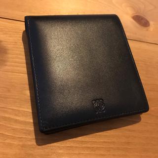 ロエベ(LOEWE)のロエベ 2つ折り札入れ 財布 レザー ブラック グリーン アマソナ【限定値下】(折り財布)