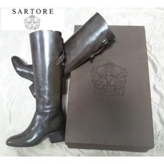 サルトル(SARTORE)の【新品・未使用】サルトル シングルベルト ロングジョッキーブーツ 35 1/2(ブーツ)