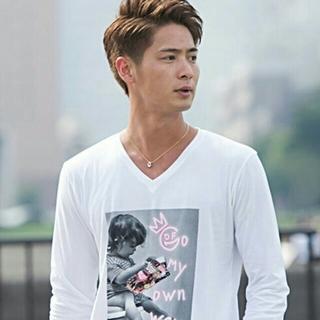 フーガ(FUGA)のGOSTAR DE FUGA キッズフォトプリント長袖白Tシャツ TRAVAS(Tシャツ/カットソー(七分/長袖))
