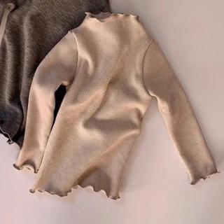 キャラメルベビー&チャイルド(Caramel baby&child )のリブフリニット 美品 L 110 韓国子供服(ニット)