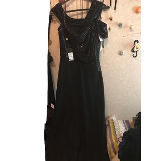 タダシショウジ(TADASHI SHOJI)のブラックロングドレス (ロングドレス)