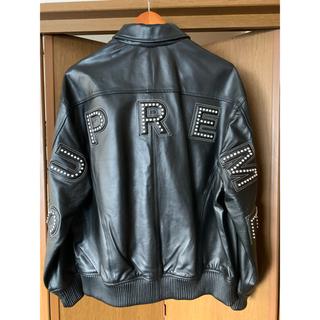 Supreme - supreme studded arc logo leather jacket