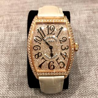 フランクミュラー(FRANCK MULLER)の極美品❣️ フランク ミュラー カサブランカ ピンク ゴールド アフター ダイヤ(腕時計(アナログ))