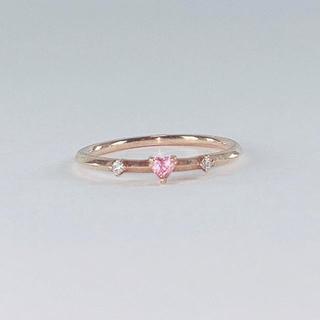 ピンキーリング ダイヤモンド k10(リング(指輪))