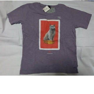 アンダーカバー(UNDERCOVER)のuuアンダーカバー130キッズTシャツ猫パープル(Tシャツ/カットソー)