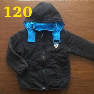 サンカンシオン(3can4on)の120㎝ リバーシブルジャンパー 黒&青 3can4on(ジャケット/上着)