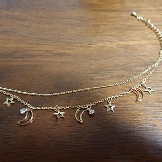 ❇️大胆お値下げ❇️月と星のゴールドブレスレット(ブレスレット/バングル)