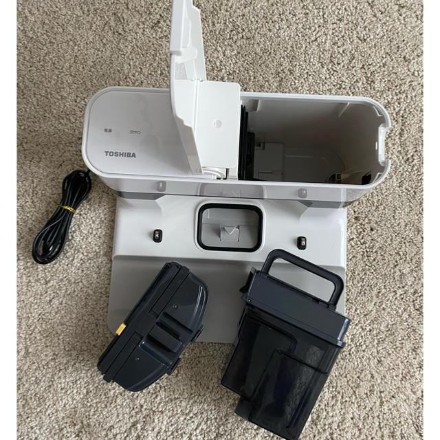 東芝(トウシバ)の東芝 ロボット掃除機 トルネオ ロボ グランホワイト VC-RCX1-W スマホ/家電/カメラの生活家電(掃除機)の商品写真