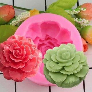 シリコンモールド 薔薇 花 型 バラ キャンドル 型抜き 抜き型 カーネーション(型紙/パターン)