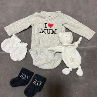 エイチアンドエム(H&M)の新生児 アイラブMUMボディースーツセット(肌着/下着)