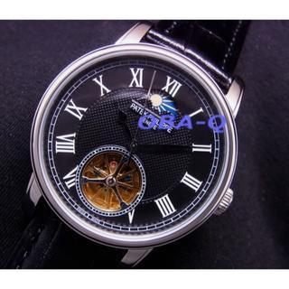 パテックフィリップ(PATEK PHILIPPE)のPAムーンフェイズブラックダイヤルトゥールビヨンタイプ(腕時計(アナログ))