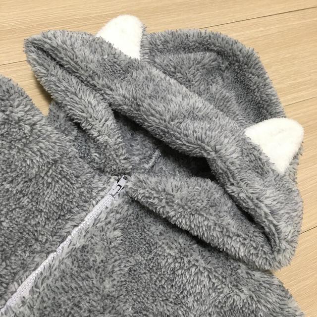GU(ジーユー)のGU マシュマロフィールラウンジパーカー 猫 150㎝ キッズ/ベビー/マタニティのキッズ服男の子用(90cm~)(ジャケット/上着)の商品写真
