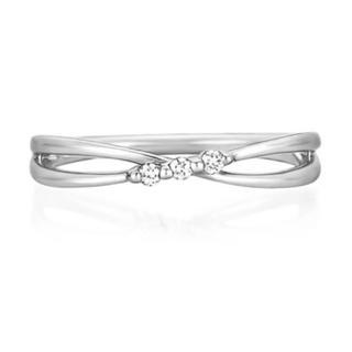 ヨンドシー(4℃)の4℃ ピンキーリング ホワイトゴールド ダイヤモンド リング(リング(指輪))
