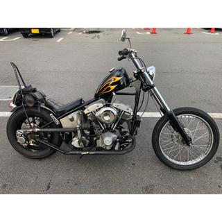 ハーレーダビッドソン(Harley Davidson)のハーレー1978年 ショベルリジッドチョッパーカスタム 車検1年以上有り(車体)