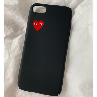コムデギャルソン(COMME des GARCONS)のギャルソン ♡ iPhoneケース 7/8 シンプル マット 黒(iPhoneケース)