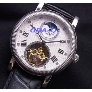 パテックフィリップ(PATEK PHILIPPE)のPAムーンフェイズホワイト10Pダイヤルトゥールビヨンタイプ (腕時計(アナログ))