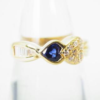 K18 サファイア ダイヤモンド リング 12号[g145-10](リング(指輪))