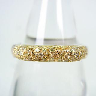 K18/K18WG ダイヤモンド パヴェ リング 13号 [g145-11] (リング(指輪))