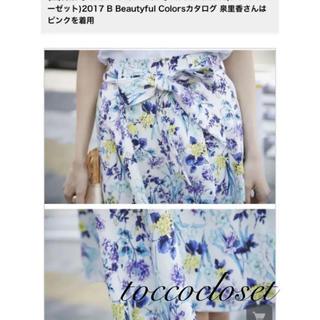 トッコ(tocco)のトッコクローゼット オリジナルフラワープリントスカート(ひざ丈スカート)