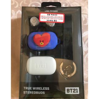 ボウダンショウネンダン(防弾少年団(BTS))の【新品】BT21 公式 Bluetoothワイヤレスイヤホンセット TATA(ヘッドフォン/イヤフォン)