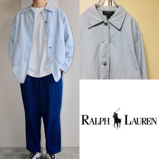 Ralph Lauren - 90sUS古着 LAUREN RALPH LAUREN カバーオール ストライプ