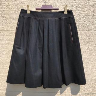 トゥモローランド(TOMORROWLAND)のTOMORROWLAND collection スカート 黒 ブラック 38(ひざ丈スカート)