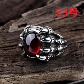 竜の蹄 ドラゴン アロー リング 指輪 赤宝石 23号(リング(指輪))