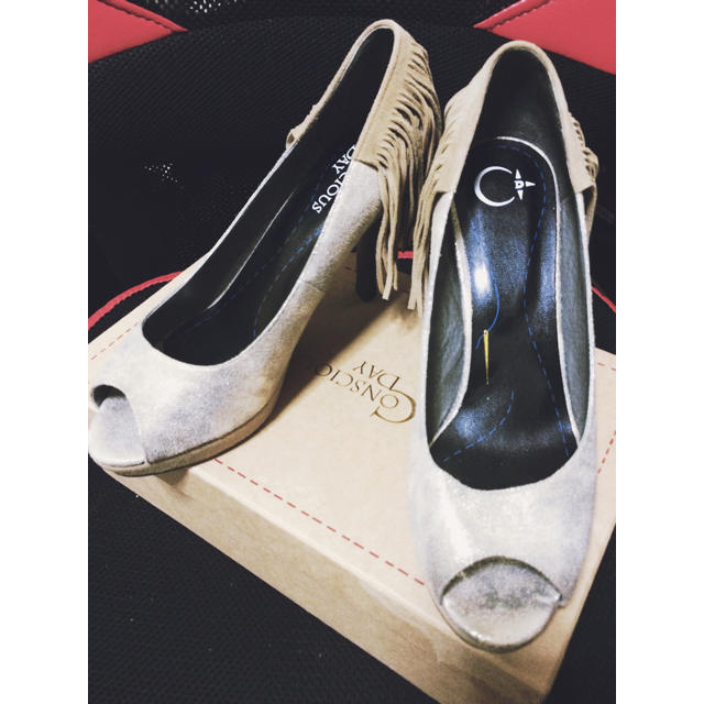 ORiental TRaffic(オリエンタルトラフィック)の新品コンシャスデイ フリンジパンプス レディースの靴/シューズ(ハイヒール/パンプス)の商品写真