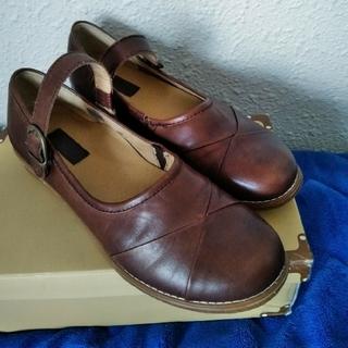 hocco ホッコ 本革 カジュアルシューズ 24.5cm  L ブラウン(ローファー/革靴)
