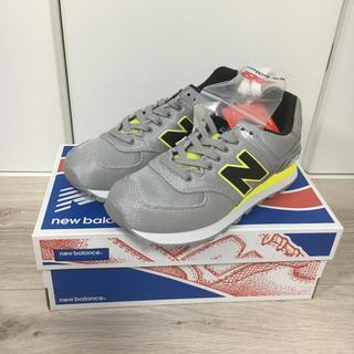 ニューバランス(New Balance)の新品タグ付き‼️ニューバランス ML574 GLAY/yellow 23.5(スニーカー)