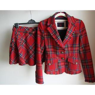 バーバリーブルーレーベル(BURBERRY BLUE LABEL)のバーバリーブルーレーベル ジャケット スカート セットアップ スーツ(スーツ)
