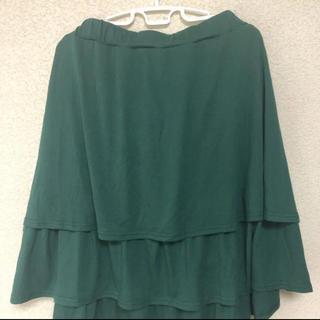 ニッセン(ニッセン)の未使用 チュールスカート グリーン サイズ6L(ひざ丈スカート)