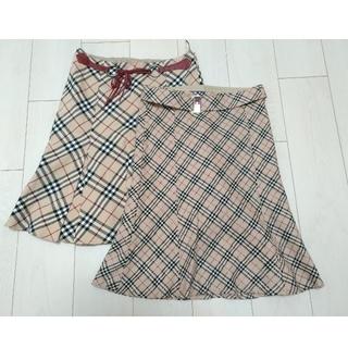 バーバリーブルーレーベル(BURBERRY BLUE LABEL)のバーバリー ブルーレーベル 36サイズ スカート 2枚(ひざ丈スカート)