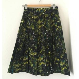 トゥモローランド(TOMORROWLAND)のballsey ボタニカル柄フレアースカート(ひざ丈スカート)
